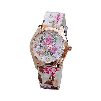 Lilicat Women Girl Cute Wrist Watch Girls Silicone Printed Flower