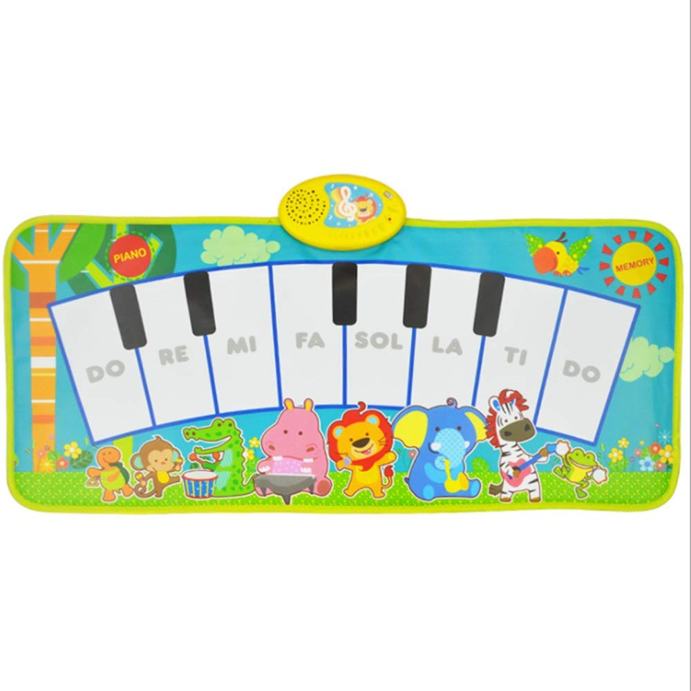 Play Keyboard Mat Cartoon Animals 32 Inches 8 Keys Foldable Floor Keyboard Piano Dancing Activity Mat Musical Keyboard Playmat With Demo Memory Play Touch-sensitive Step And Play Instrument Toys For T by GAOCAN-gq (Image #2)