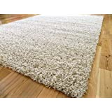 EXTRA LARGE OATMEAL BEIGE MIX MEDIUM NEW MODERN SOFT THICK SHAGGY RUGS NON SHED RUNNER MATS 160 X 225 CM FREE UK MAINLAND DELIVERY