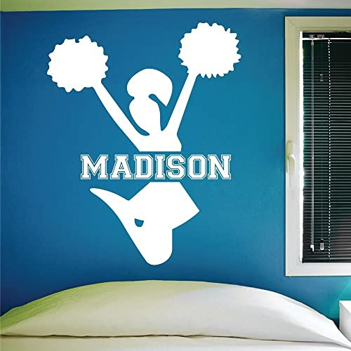 Amazoncom Custom Cheerleading Wall Decal Personalized - Custom vinyl stickers for girls