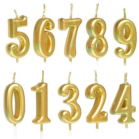 10 velas con números de cumpleaños para decoración de tartas ...