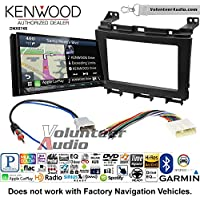 Volunteer Audio Kenwood DNX874S Double Din Radio Install Kit with GPS Navigation Apple CarPlay Android Auto Fits 2009-2016 Nissan Maxima