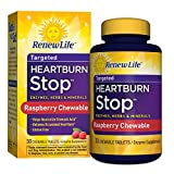 Renew Life – Heartburn Stop – enzyme supplement – 30 Raspberry flavor chewable tablets Review
