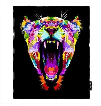 Amazon.com: Moslion - Manta de león con diseño de animales ...
