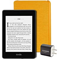 Kindle Paperwhite Essentials Bundle including Kindle Paperwhite - Wifi, Ad Supported, Amazon Water-safe Fabric Cover…