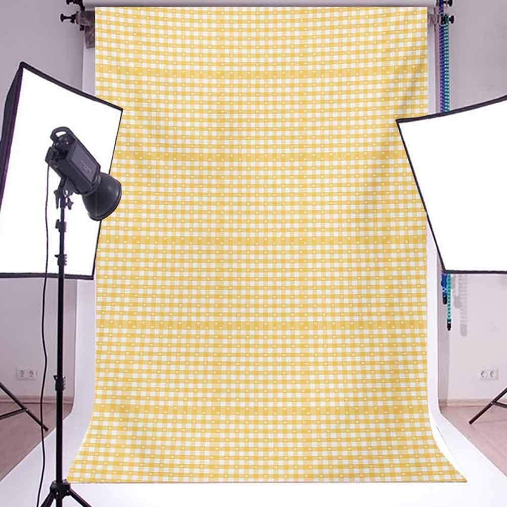 Yellow and White 8x10 FT Backdrop Photographers,Geometric Pattern with Stripes Triangles Abstract Shapes 80s Style Background for Photography Kids Adult Photo Booth Video Shoot Vinyl Studio Props