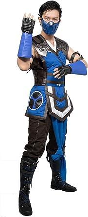 Amazon Com Mortal Kombat 11 Sub Zero Costume Adults Cosplay Men
