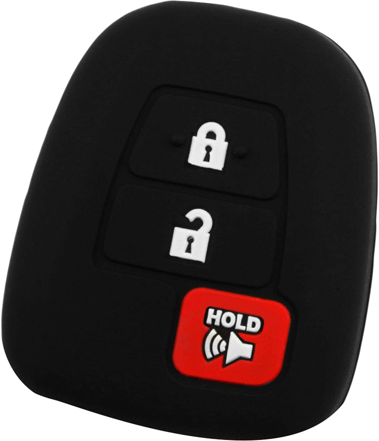 KeyGuardz Keyless Entry Remote Car Key Fob Outer Shell Cover Protective Case for Toyota Camry Corolla Rav4 HYQ12BDM Pack of 2