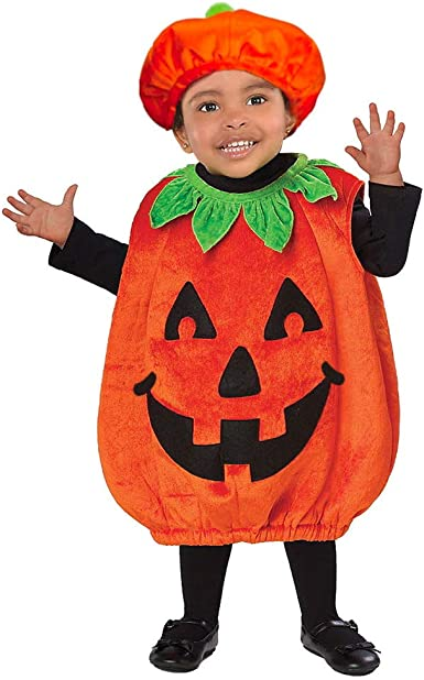 Halloween Pumpkin Costume Kids Baby Girl Cosplay Party Fancy Dress Clothes 6M-4Y