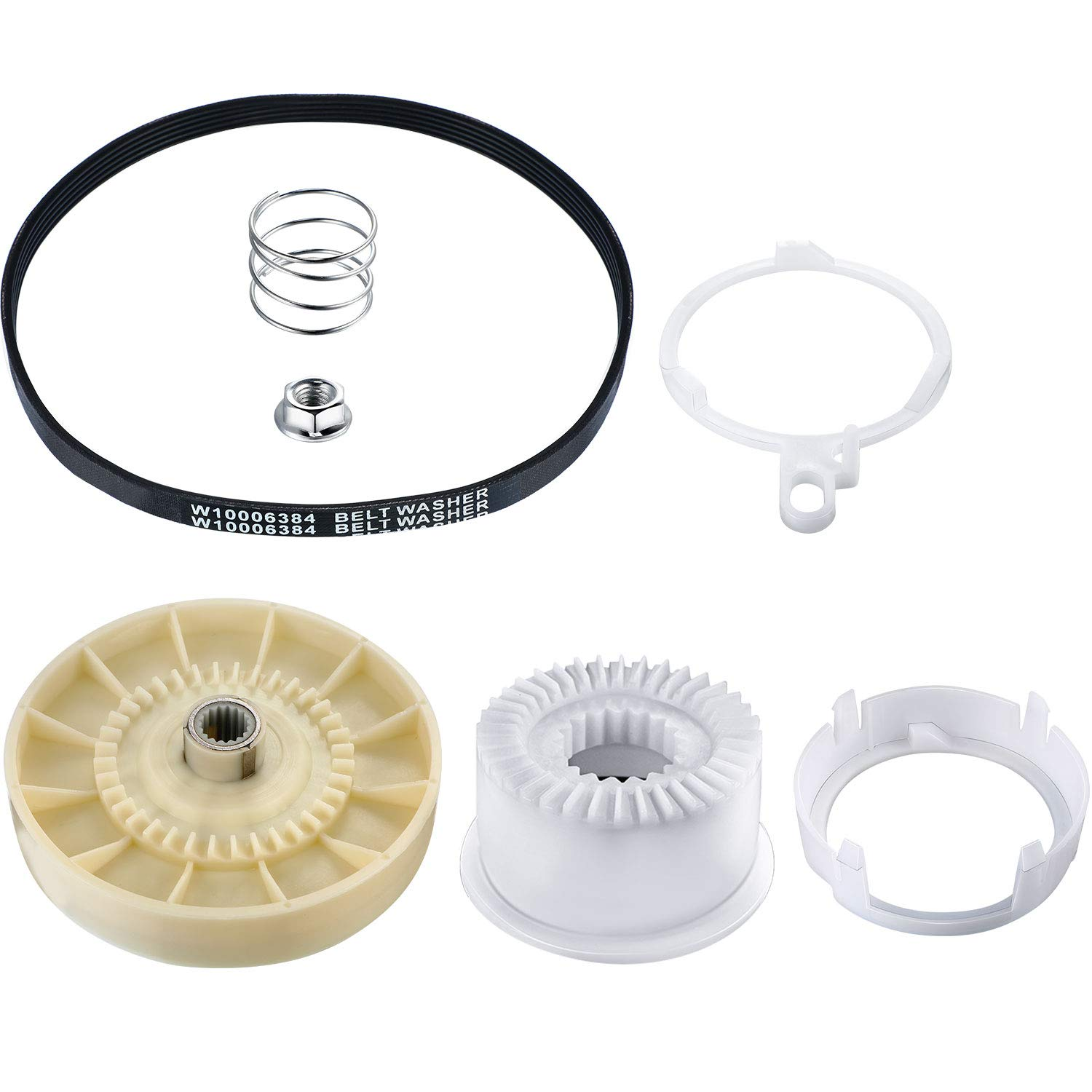 2 Pieces Washer Replacements Including 1 Piece W10721967 Washer Pulley Clutch Kit and 1 Piece W10006384 Washing Machine Drive Belt 61lQjDHAQZL