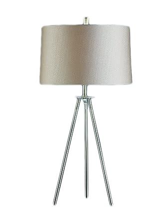 tripod floor lamp in brushed nickel