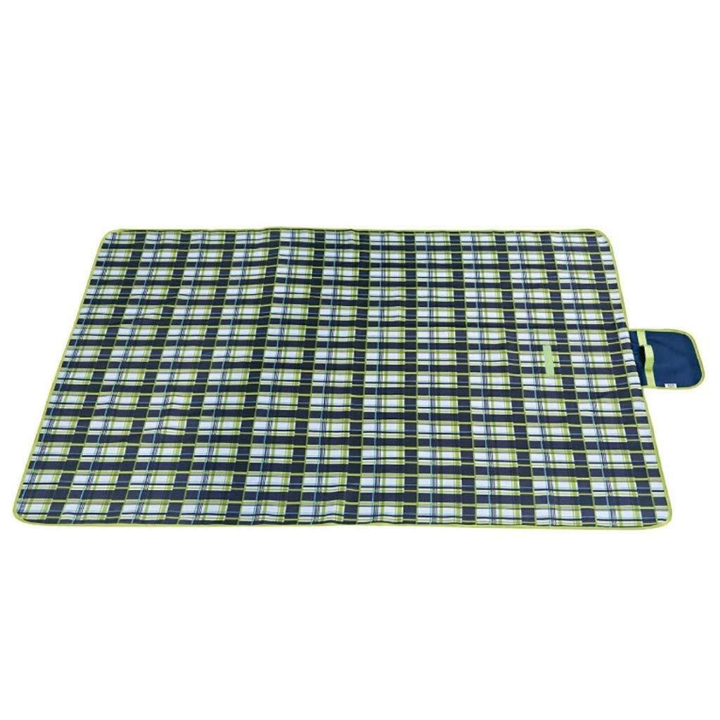 ZKKWLL Picnic Blanket Picnic Blanket Waterproof Large Folding Carpet mat 195200cm Portable Outdoor Soft Camping Handbag Light Carpet Beach mat (Color : A) by ZKKWLL