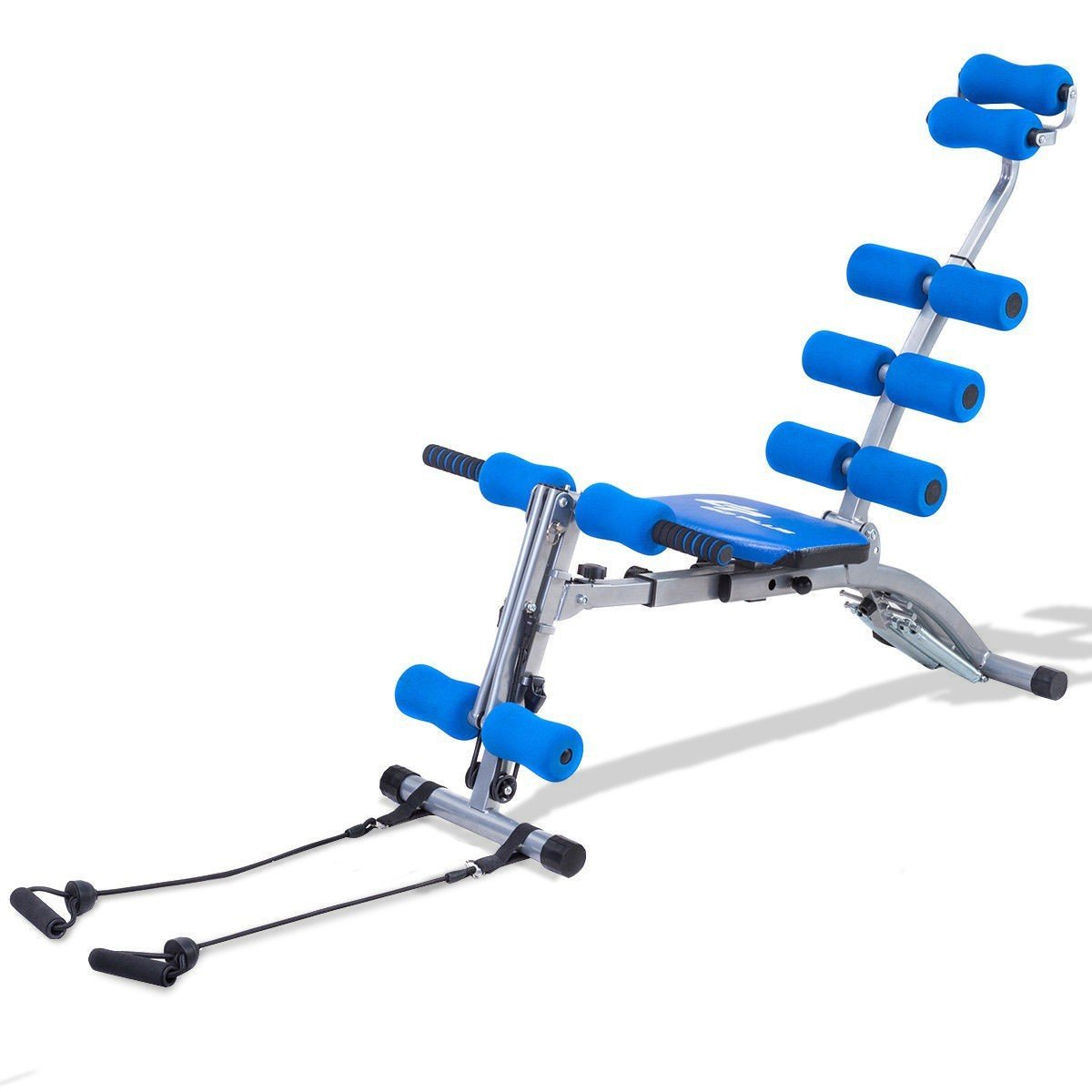 5 in 1 Multi-functional Twister Rocket Abdominal Trainer Bench - Orange