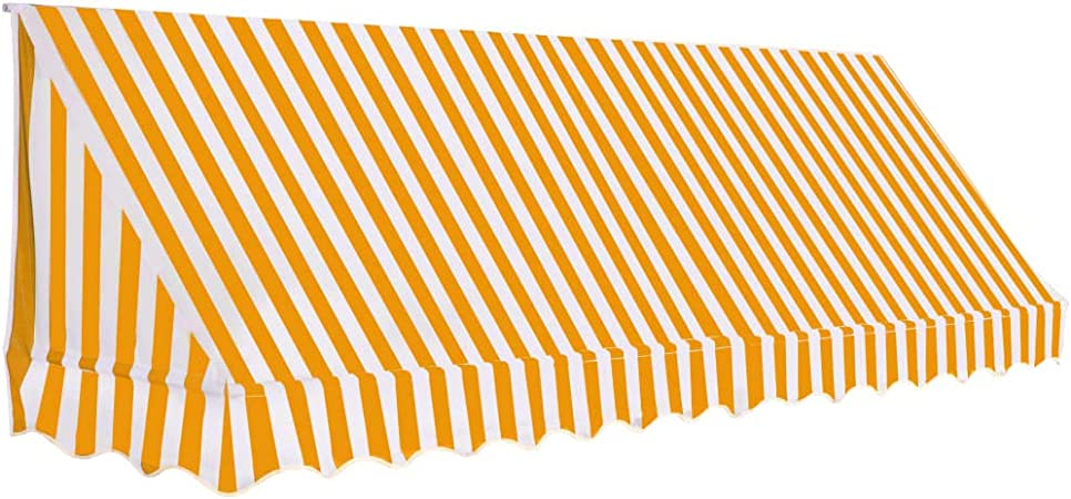 vidaXL Toldo para Bar 350x120cm Naranja/Blanco Accesorios Casa Jardín Terraza: Amazon.es: Hogar