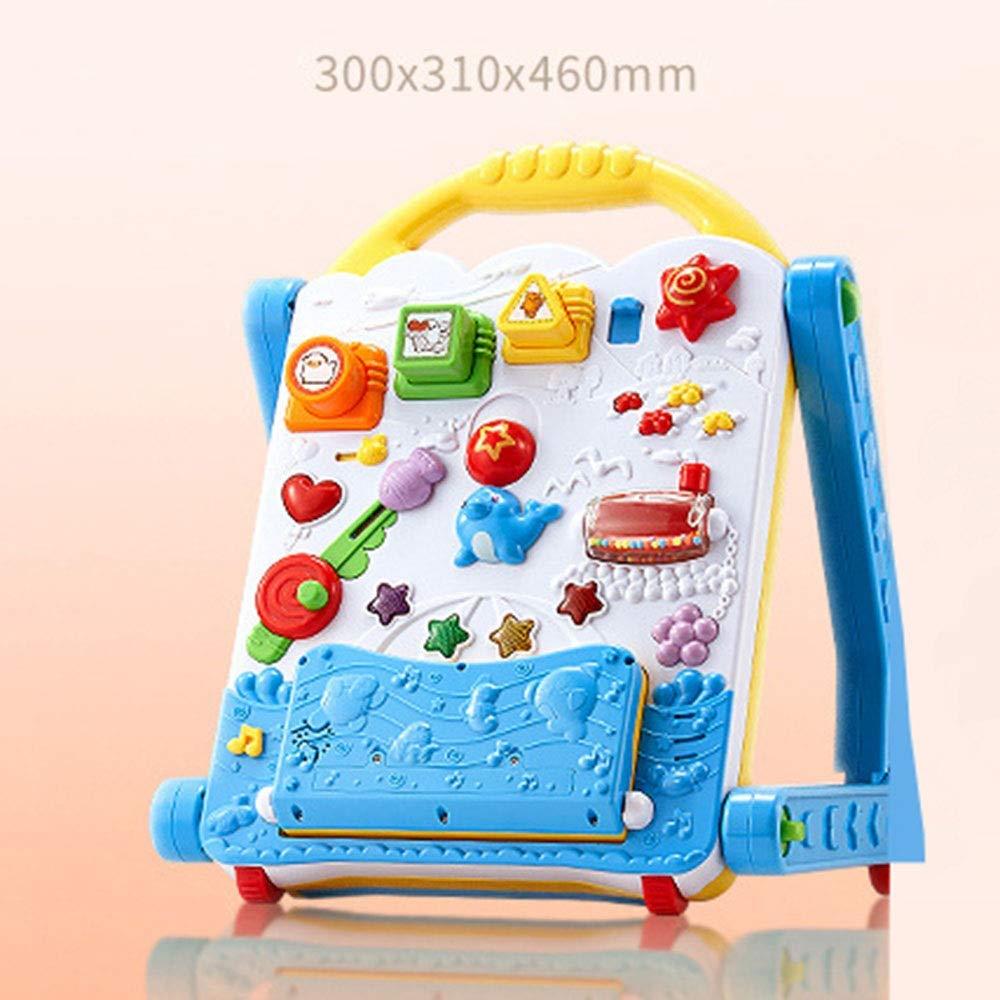 50c24661f2e65 握りやすいハンドルと頑丈な4輪ベースで、赤ちゃんの足のステップを少し確実にします。たくさんの忙しい指の運動が、運動能力の向上に役立ちます。