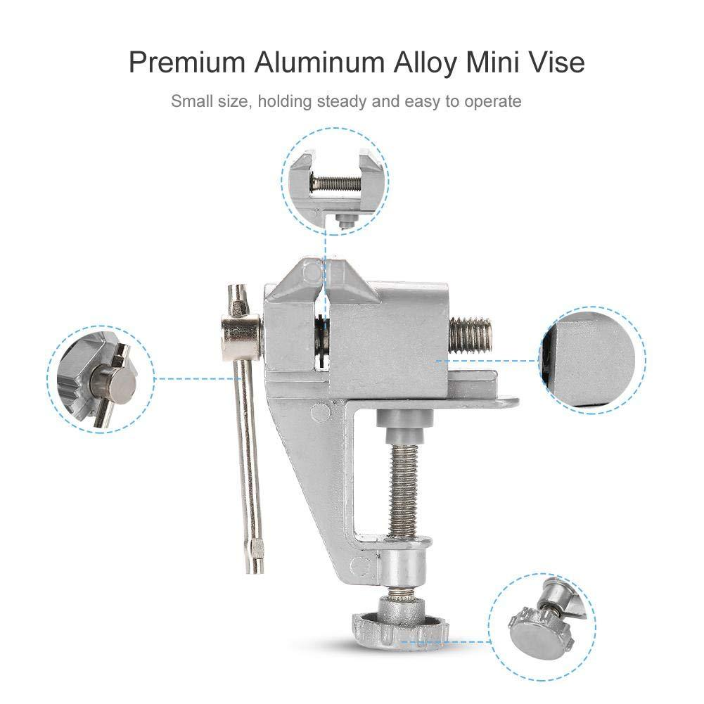 alliage daluminium Mini /étau Table artisanat bijoux pince vice r/éparation outil avec m/âchoire r/églable pour garage//atelier//petites r/éparations//maquettistes//boiseries Mini /étau
