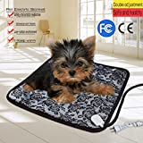 Startview Pet Heating Pad Electric Heating Pad Waterproof Adjustable Warming Mat With Chew, Your Pet Will Love This
