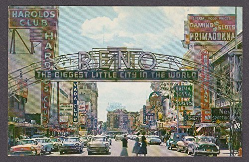 (Harolds Club Primadonna Casino Nevada Club Reno NV postcard 1950s)