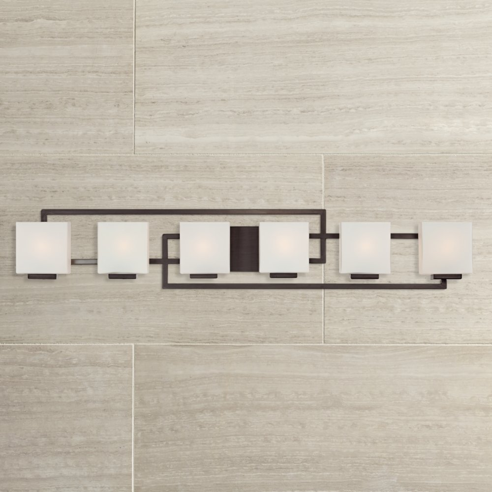 Lighting on the square bronze 45 wide bath wall light vanity lighting on the square bronze 45 wide bath wall light vanity lighting fixtures amazon mozeypictures Choice Image