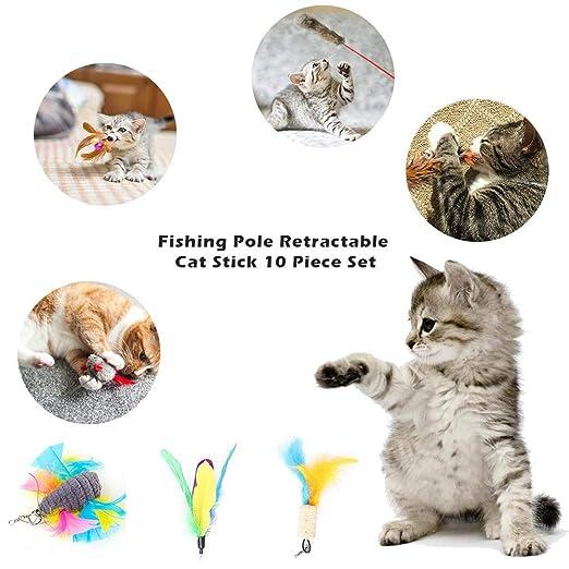Brillie Juego Interactivo De Juguetes para Gatos con Juguete De ...