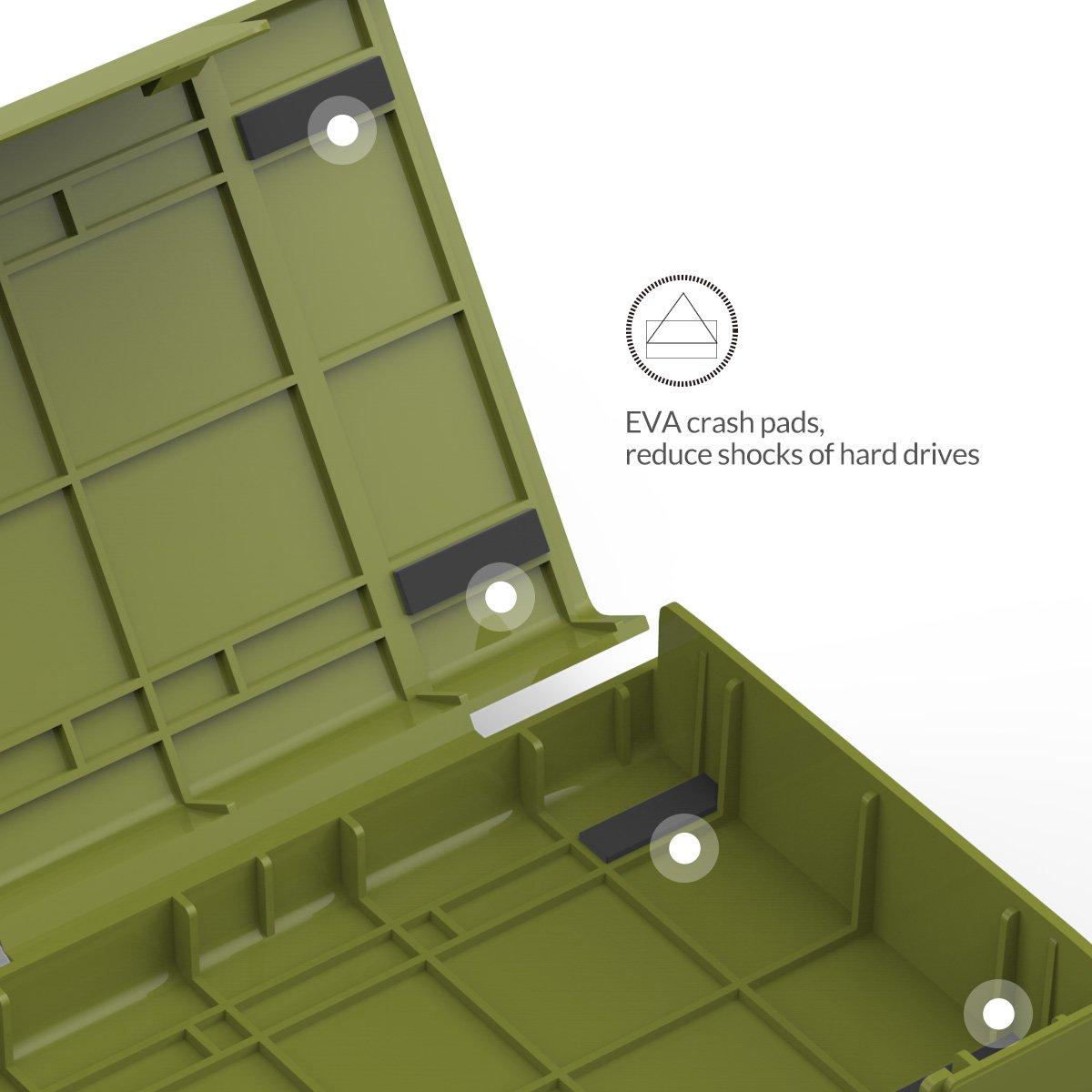 Custodia Western Digital WD Seagate Toshiba Samsung-Porpora ORICO Custodia Protettiva per Disco Rigido da 3,5 Pollici