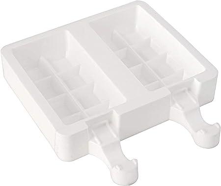 Image ofsilikomart GEL02 CHOCOSTICK Set de 2 moldes para Hacer Helados, Color Blanco