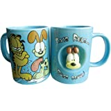 Westland Giftware 4-Inch Ceramic Spinner Mug, 12-Ounce, Garfield Cats Rule Dogs Drool
