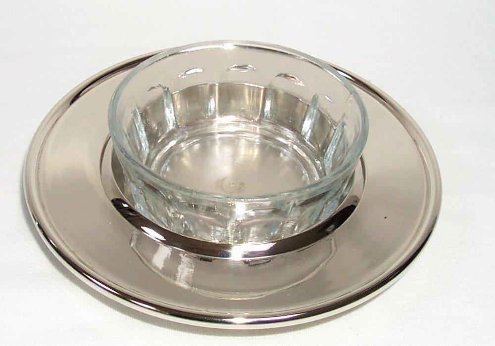 Decorativa Ronda lata de Caviar con ventana de vidrio plateado, mantequera: Amazon.es: Juguetes y juegos