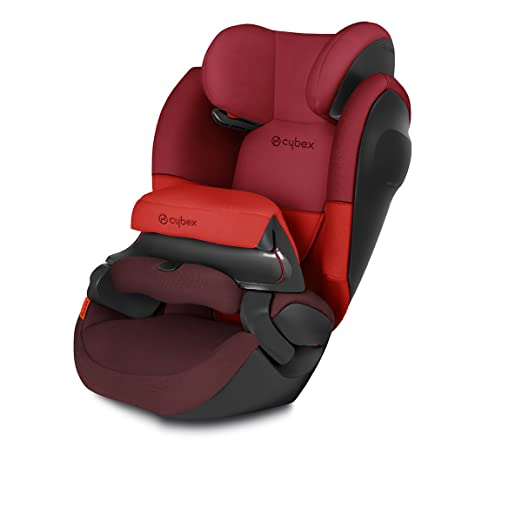Cybex Silver - Silla de coche 2 en 1 para niños pallas m sl, grupo 1/2/3 (9-36 kg), desde los 9 meses hasta los 12 años aprox., sin isofix, rumba red