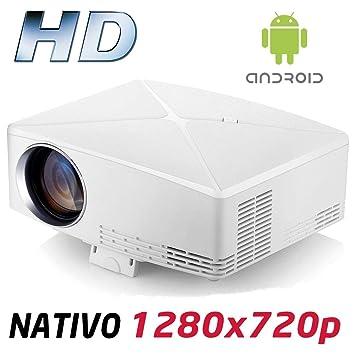 Proyector Full HD 1080P, Modelo HD430 (2019 Nuevo), Proyector Android Maxima luminosidad Portátil LED Cine en casa 1920x1080 HDMI USB VGA Bluetooth ...