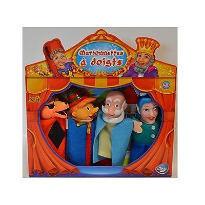 Coffret 4 marionnettes à doigt - Thème Pinocchio