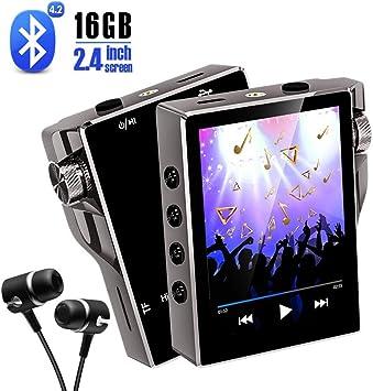 Amazon.com: Reproductor de MP3 con Bluetooth 16 GB Radio FM ...
