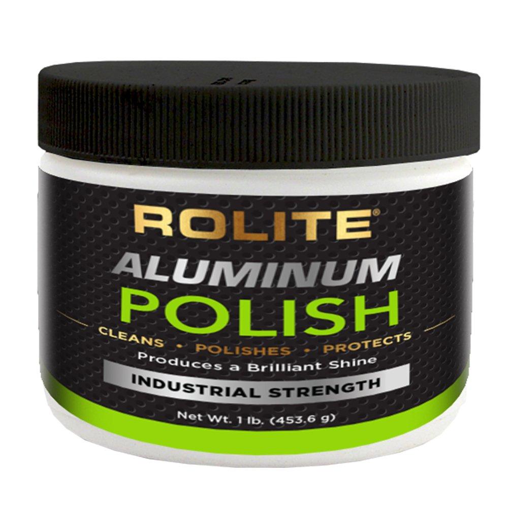 Rolite Aluminum Polish (1lb) for All Aluminum & Bare Metal Surfaces - Canoes, Jon Boats, Pontoons, RVs, Diamond Plate, Aluminum Non-Coated Wheels