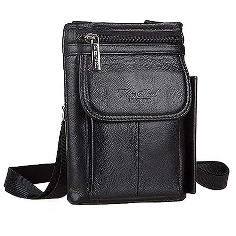 8bdbba76ced6 Amazon.com: Xieben Leather Vertical Waist Pouch Cellphone Belt Loop ...