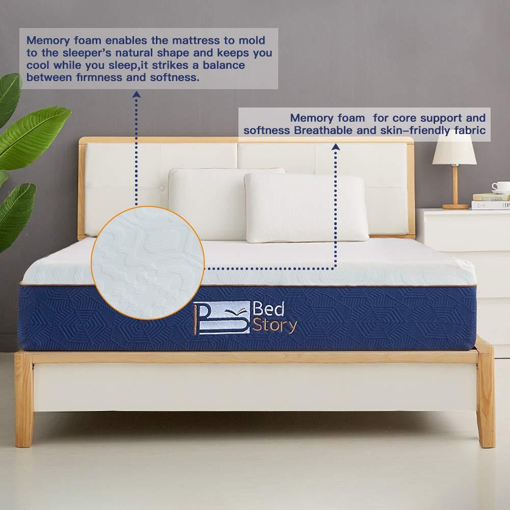 bab748d8ce8 Amazon.com  BedStory Lavender Memory Foam Mattress 12 Inch