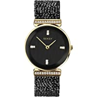 Seksy Rocks® Collection Round Dial Swarovski® Stone Set Bracelet Ladies Watch