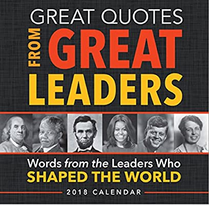 2018 Great Quotes From Great Leaders Boxed Calendar Sourcebooks