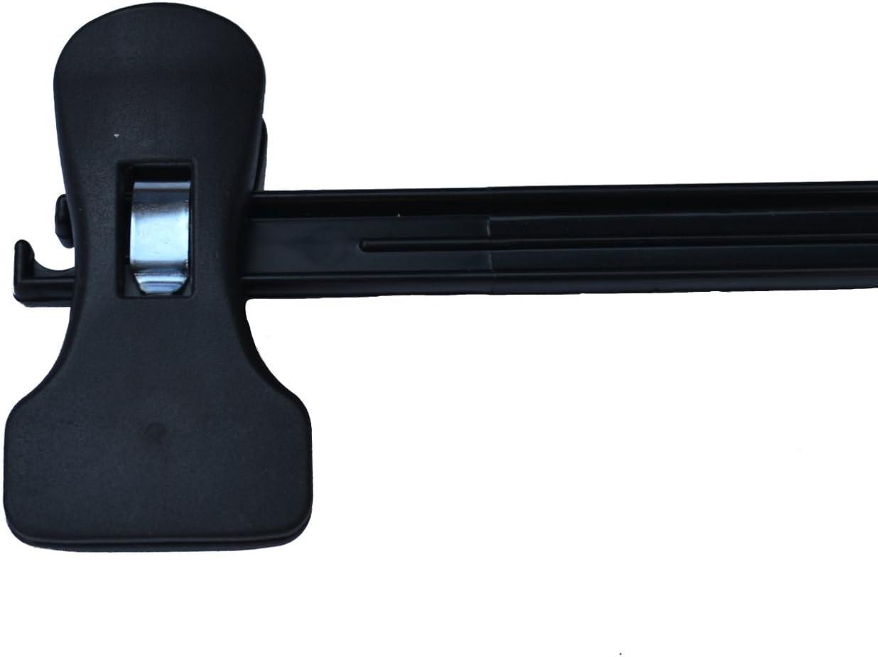 BLACK PLASTIC ADJUSTABLE WAIST CLIP HANGERS 100 50 20 35cm Width Packs 10 10