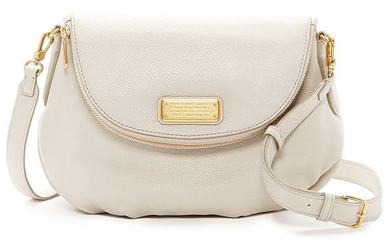 5966a419bd2f Amazon.com  Marc by Marc Jacobs New Q Natasha Leather Crossbody Bag ...