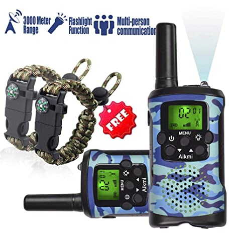 Kids Walkie Talkies Set - Walkie Talkies for Kids 2 Way Radio Toy Birthday  Gift for 4-8 Year Old Boys and Girls Fit Games, Adventure and Camping