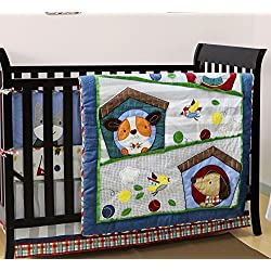 Puppy Pals 4 Piece Baby Crib Bedding Set for boys by Belle