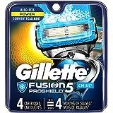 Gillette Fusion5 ProShield Chill Men's Razor Blades, 4 Blade Refills