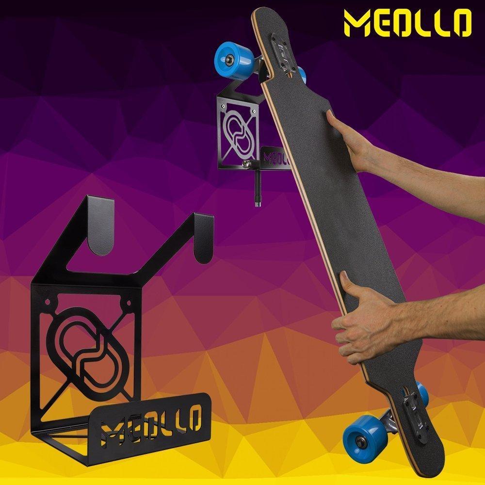 100/% Acero MEOLLO Soporte Colgador para Longboard Fabricado en Espa/ña.