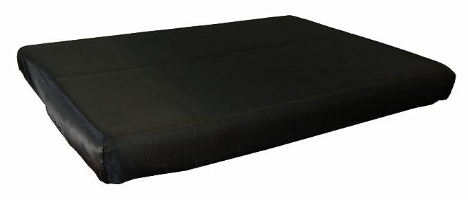 beties Glanz Satin Spannbetttuch 100x200cm anschmiegsam & edel 100% Polyester in 4 beliebten Größen (Schwarz)