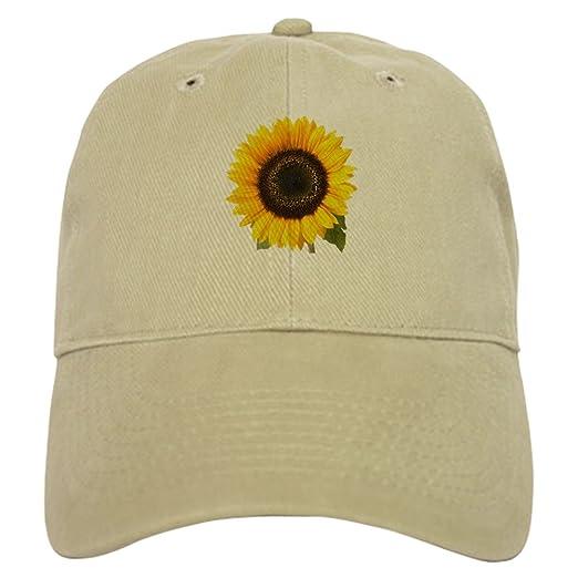 Amazon.com  CafePress - Sunflower - Baseball Cap with Adjustable ... 1adb00d5b614
