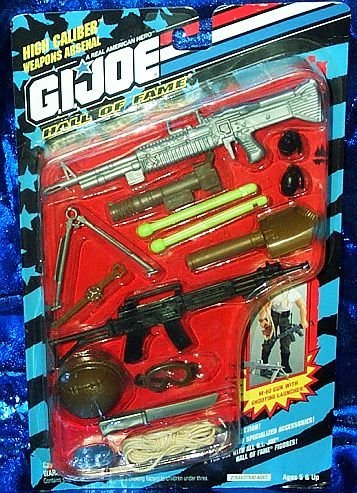 G.I. Joe Hall of Fame High Caliber Weapons Arsenal Accessory Set (Iron Brigade Best Weapons)