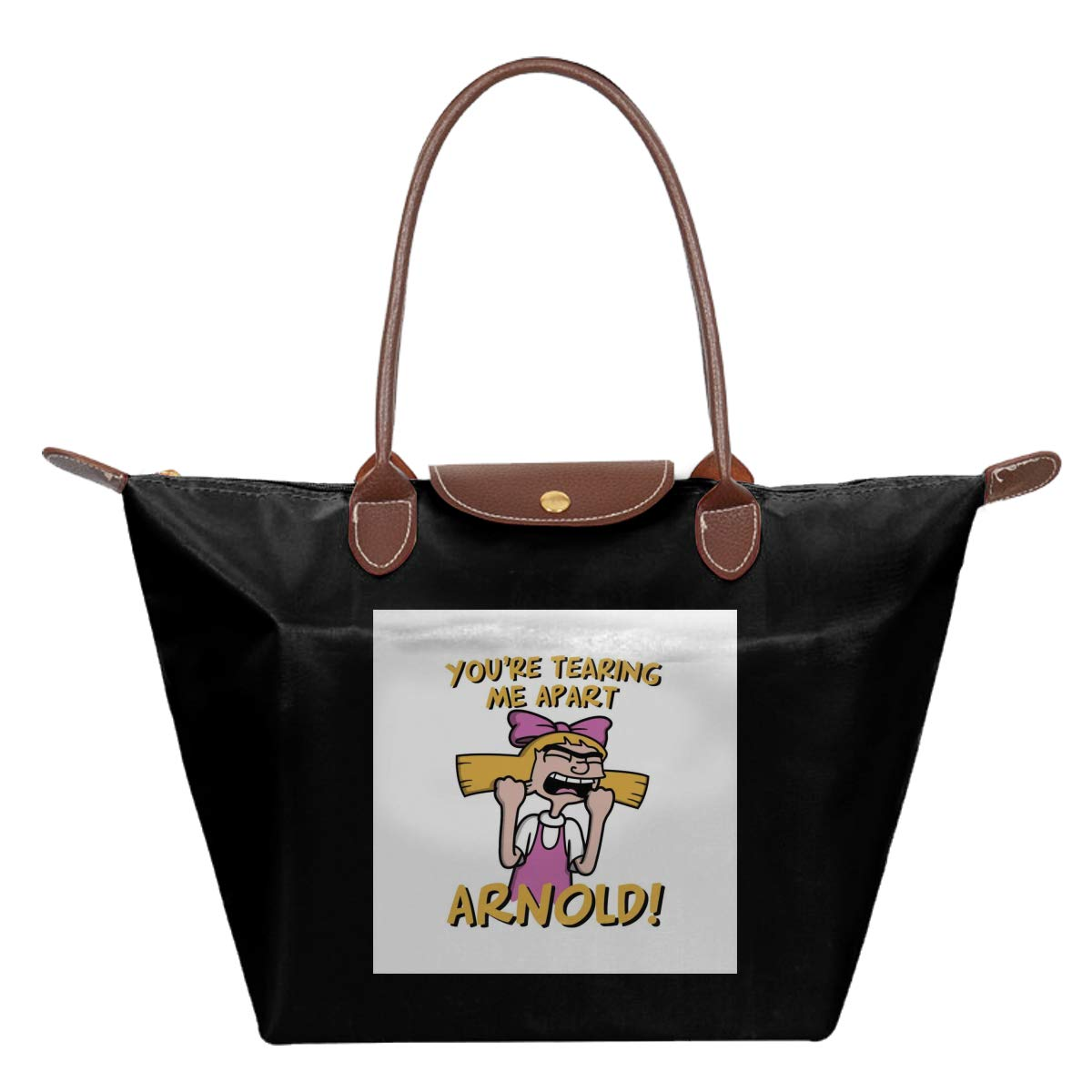 Hey Arnold Youre Tearing Me Apart Helga Room Waterproof Leather Folded Messenger Nylon Bag Travel Tote Hopping Folding School Handbags