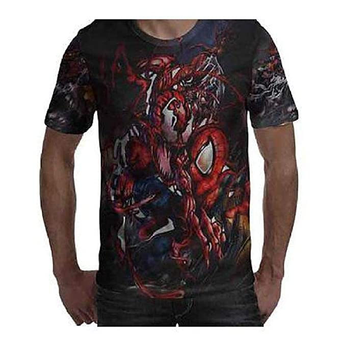 81e95f044 Image Unavailable. Image not available for. Color: FidgetGear Spiderman Tee  Tshirt Fullprint ...