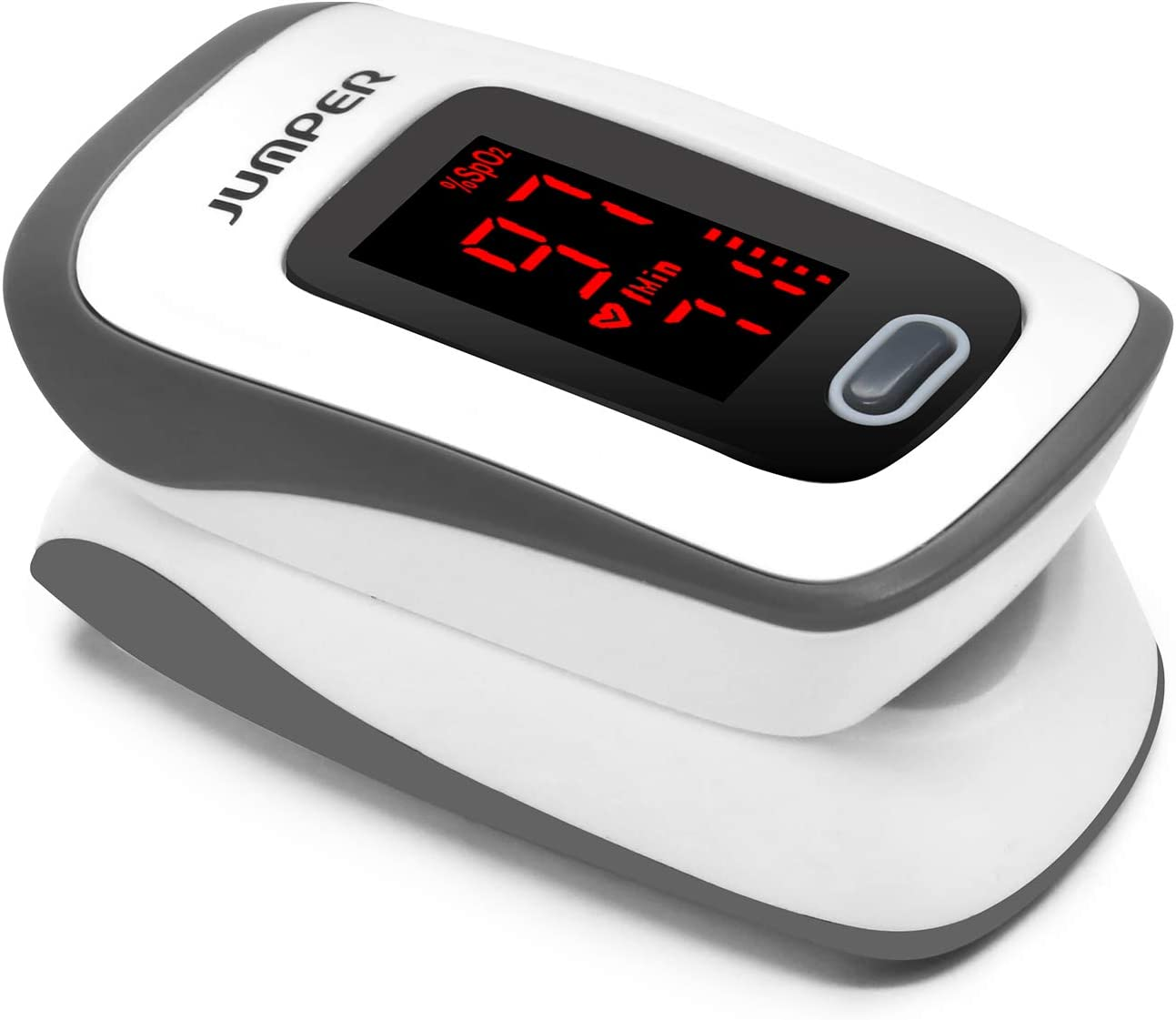 Fingertip Pulse Oximeter Blood Oxygen Saturation Monitor for Sports or Aviation with LED Screen and Batteries