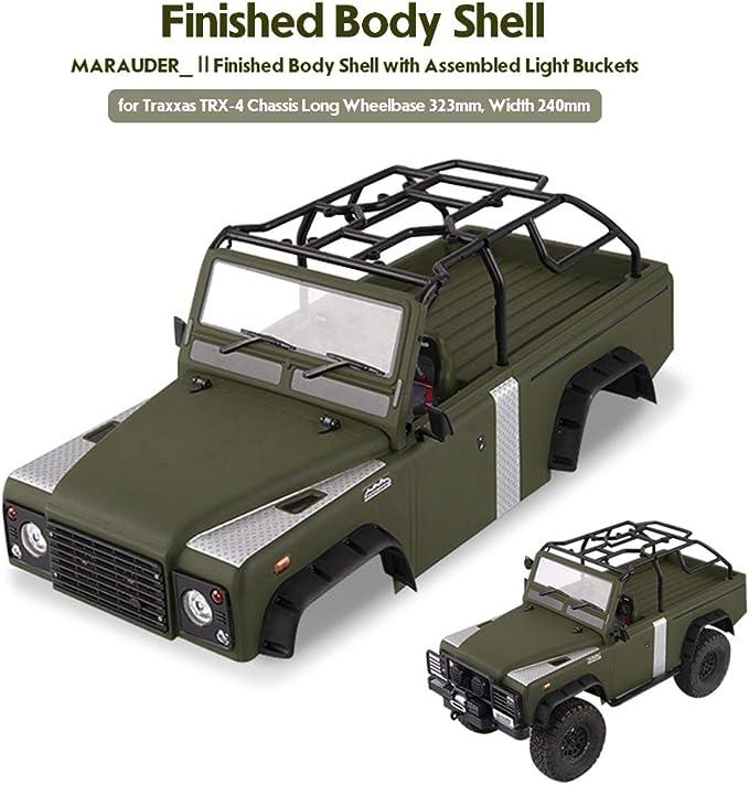 Goolsky- Killerbody Marauder_Ⅱ Kit de Cubierta de la Carrocería RC con Cubos de luz para 323 mm Distancia Entre Ejes Traxxas TRX-4 Chasis RC Crawler ...